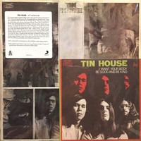 "TIN HOUSE  - ST  PLUS 7"" (70s  obscure power trio) w liners, rare photos, insert & pic slv EP"