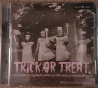 TRICK OR TREAT: MUSIC TO SCARE YOUR NEIGHBOUR  -VINTAGE 45s FROM LUX AND IVY'S HAUNTED BASEMENT DBL -  COMP CD