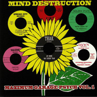 MIND DESTRUCTION: MAXIMUM GARAGE PSYCH  VA- Hand numbered box six incredibly rare US '60s garage-psych singles! BOX SET 45 RPM