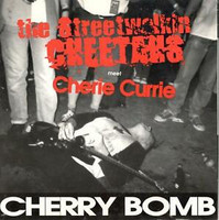 STREET WALKIN CHEETAHS with Cherie Currie   - Cherry BomB-heavy cardboard slv   45 RPM