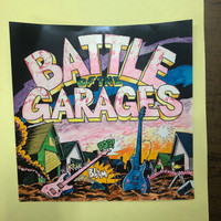 BATTLE OF THE GARAGES  - ORIGINAL ARTWORK MOCK UP!   WAREHOUSE FIND