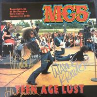 MC5 -TEENAGE LUST- AUTOGRAPHED BY JOHN SINCLAIR, WAYNE KRAMER, AND MICHAEL DAVIS!!  LP
