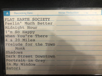 FLAT EARTH SOCIETY   - ARCHIVAL GREG SHAW  CASSETTE