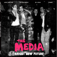 MEDIA  - BRIGHT NEW FUTURE (1978 UK punk style)YELLOW  LP