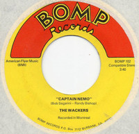 WACKERS (Bob Segarini)    - CAPTAIN NEMO (POWERPOP) 1975 ORIG PRESSING BO  45 RPM