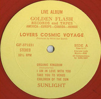 SUNLIGHT (Sky Saxon) Lovers Cosmic Voyage  - transparent red vinyl 1976 - LP