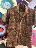 VINTAGE 60s PAISLEY SHIRT   -ONCE OWNED BY GREG SHAW! - APPAREL