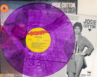 JOSIE COTTON  - Convertible Music -PURPLE VINYL WITH DBL SIDED INSERT (classic California 80s girl-pop) LP