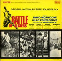 BATTLE OF ALGIERS  Ennio Morricone And Gillo Pontecorvo -  Original Motion Picture Soundtrack   - 1967 pressing   LP