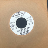 JAN AND DEAN- Wanted, One Girl    -1961 white label promo   45 RPM