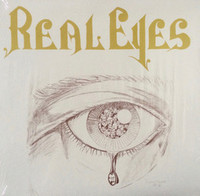 REAL EYES  -ST  +  A4 size, leatherette, soft cover 90-page book with drawings and lyrics - LP