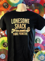 LONESOME SHACK   -  BLACK with cream . LAST FEW!  Tshirts