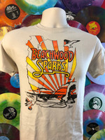 BEACHWOOD SPARKS  -  TAN shirt w 3 color design from Desert Skies LP -  Tshirts