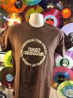 RADIO MOSCOW - Great Escape of Leslie Magnafuzz - Mocha shirt with cream lettering - T Shirt