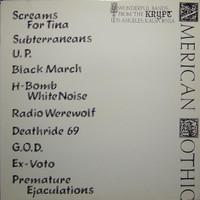 AMERICAN GOTHIC - VA ORIGINAL PRESSING 1988- WITH INSERT -COMPLP