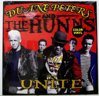 PETERS,DUANE AND THE HUNNS- Unite -LAST COPIES! Punk rock classic on green vinyl  LP