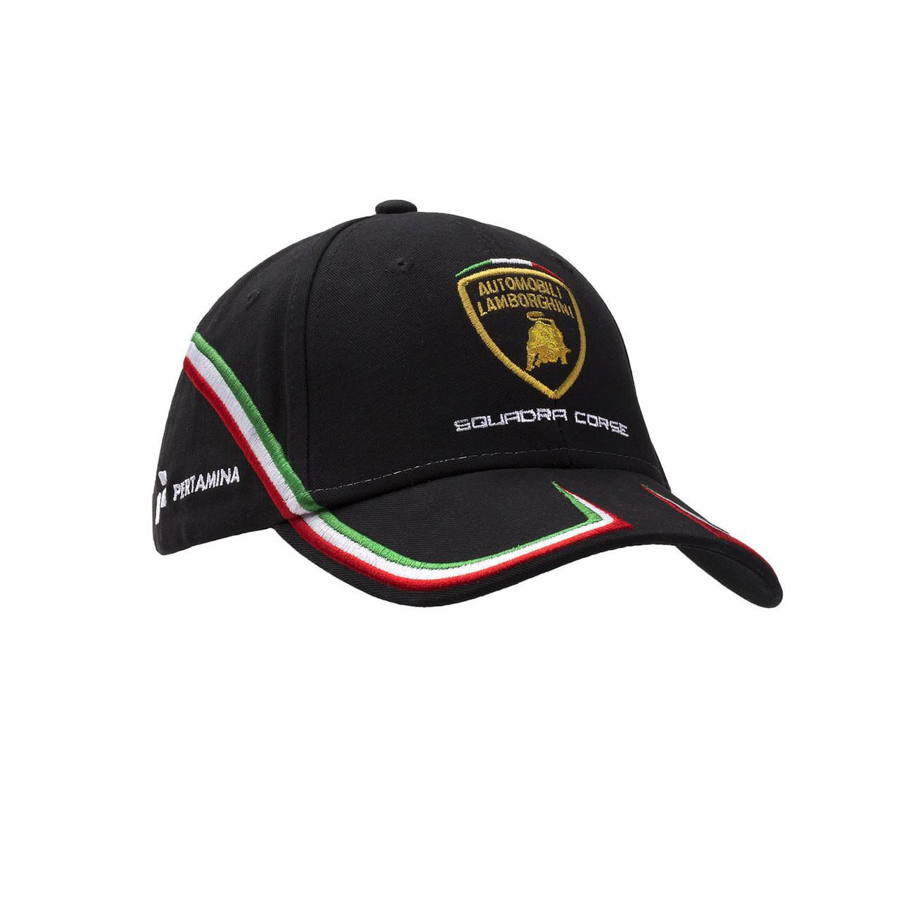 Lamborghini Squadra Corse Hat In Black Italian Exotics Boutique