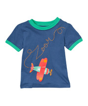 Green Trim Red Airplane Shirt