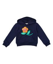 Flower Navy Hoodie