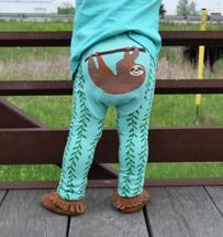 Happy Sloth Cotton Leggings