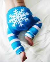 Turquoise Snowflake Leggings