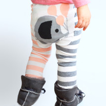 Pink Elephant Cotton Leggings