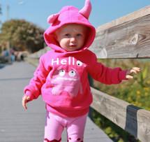 Pink Monster Pullover 3D Hoodie