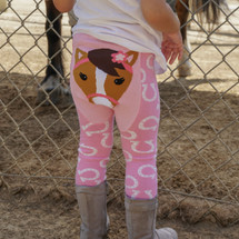 Pink Horse Cotton Leggings