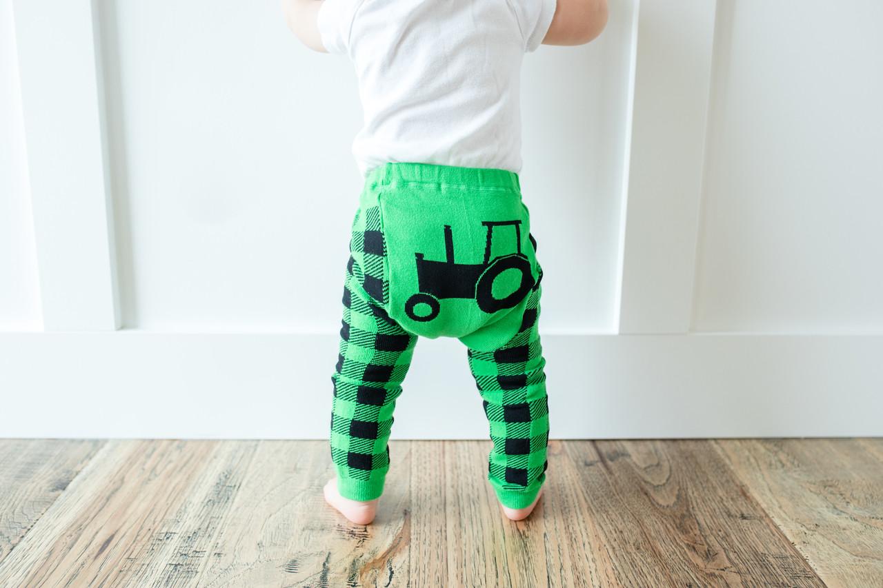da1eede3dd968 Green Tractor Cotton Leggings   Doodle Pants