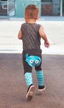 Blue Monster Cotton Pants