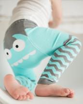 Blue Monster Organic Cotton Leggings