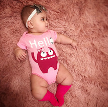 Pink Monster Bodysuit