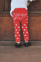 Red Heart Leggings