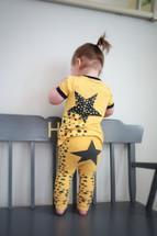 Yellow Star Cotton Leggings