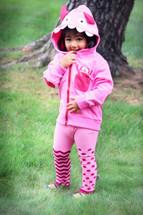 Pink Monster Zip Up Hoodie 3D NEW