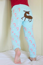 Candy Cane Deer Cotton Leggings