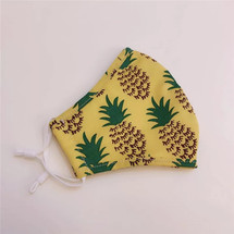 Yellow Pineapple Adult Face Mask