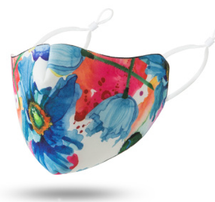 Watercolor Flowers Adult Face Mask