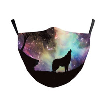 Howling at the Stars Adult Face Mask