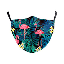 Flamingo in Paradise Adult Face Mask