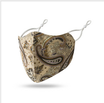 Bougie Beige Paisley Face Mask