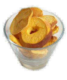 organic freeze dried peaches
