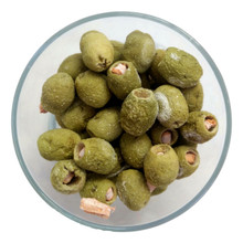Freeze Dried Green Olives Stuffed with Chili Paste