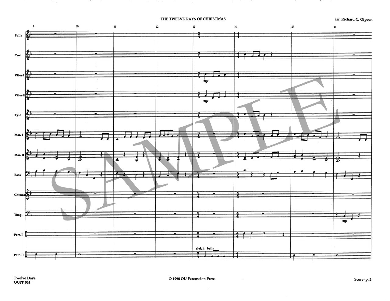Twelve Days Of Christmas Sheet Music.Twelve Days Of Christmas The
