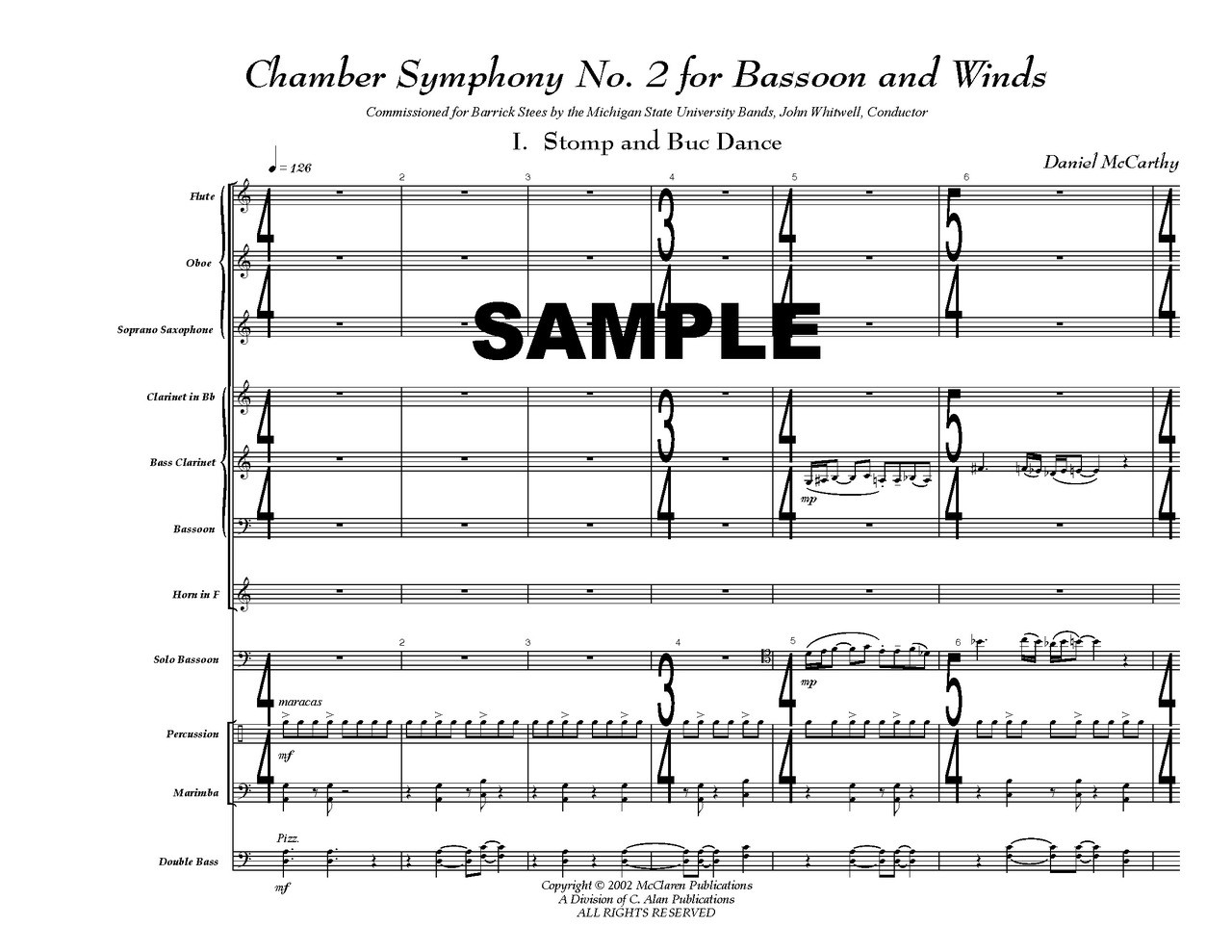 Chamber Symphony No  2 for Bassoon