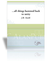 ...all things hastened back to Unity