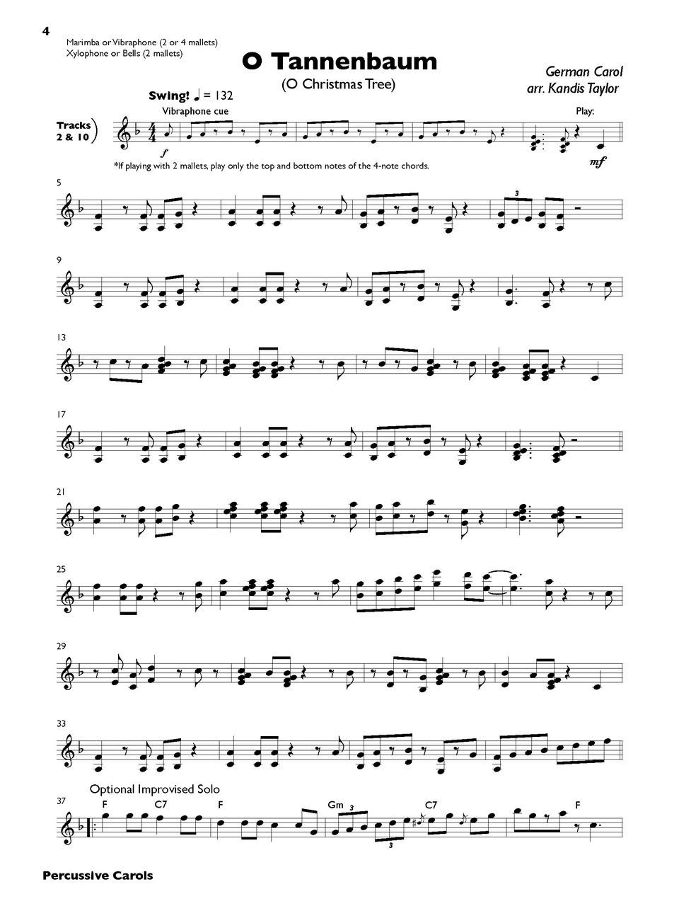 Percussive Carols - C. Alan Publications