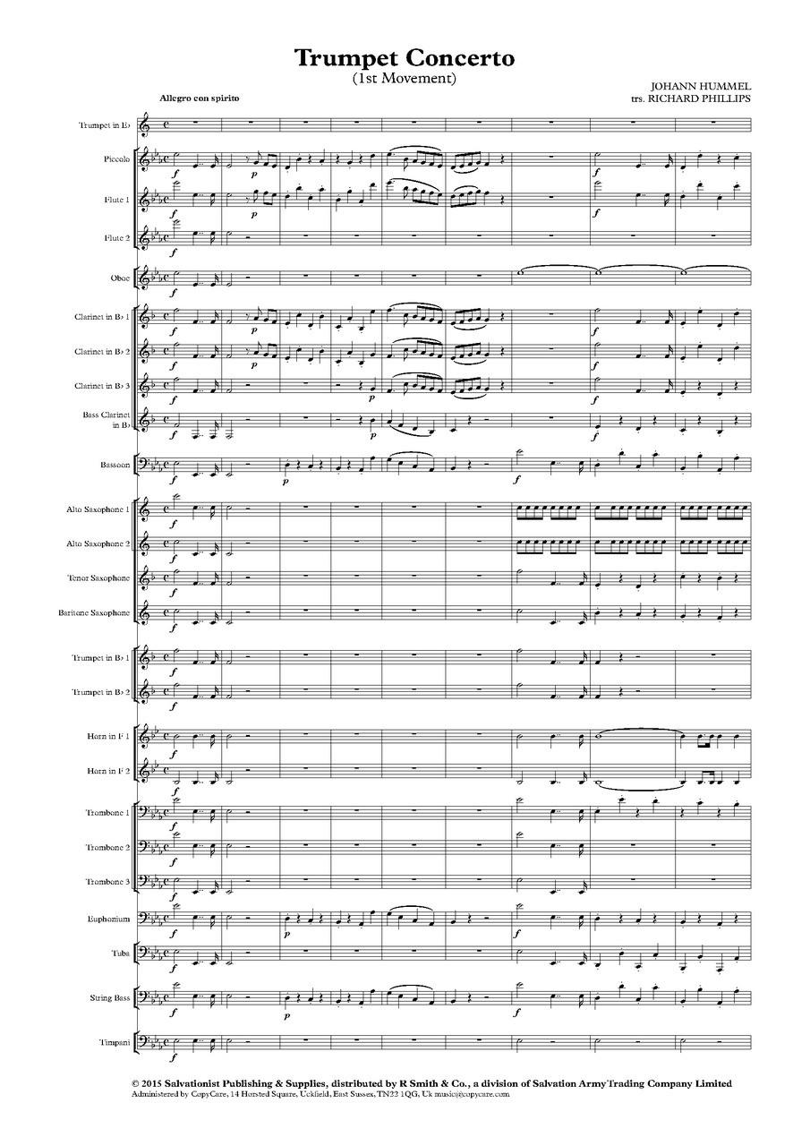 Trumpet Concerto in E-flat, Mvt  I (Hummel)