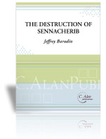 Destruction of Sennacherib, The (Perc Ens 7 + Spoken Voice)