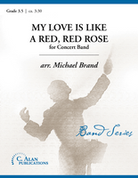 My Love is Like a Red, Red Rose (Band Gr. 3.5)